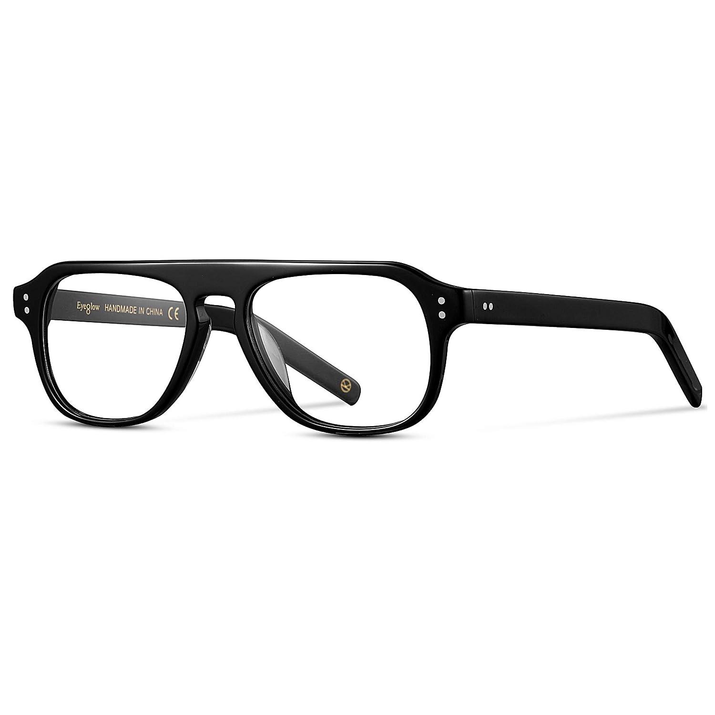 montatura per occhiali da uomo vintage lenti trasparenti opzionali EyeGlow Kingsman