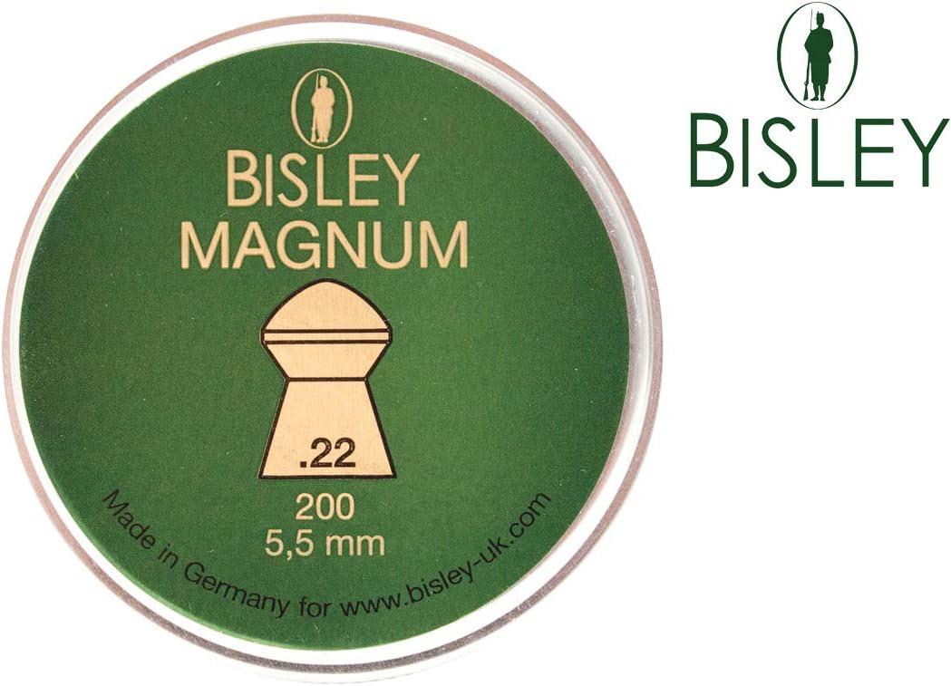 Bisley Rifle Aire Pellets .22 Caza Barrera Deportivo Blanco Práctica Cúpula Afilado