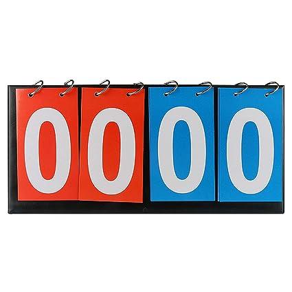 : 4 Digital Portable Table Top Scoreboard Flipper