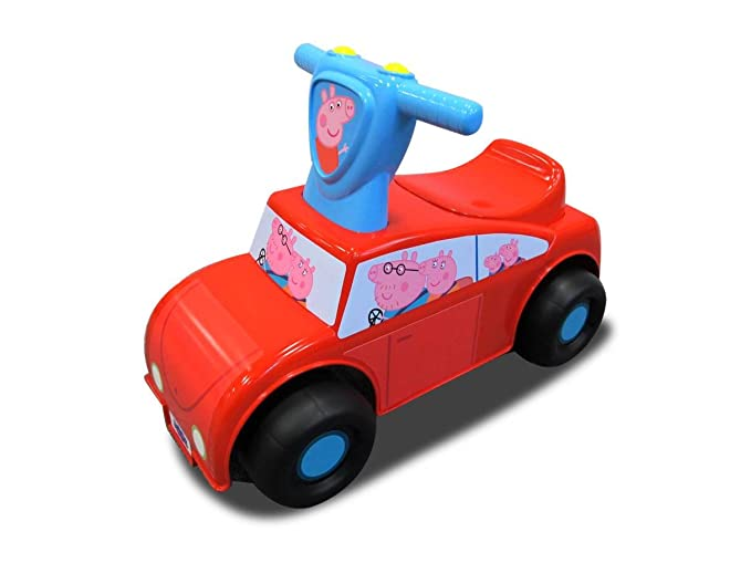 Benefits Of Ride On Toys : Amazon peppa pig family car push n scoot ride on toys