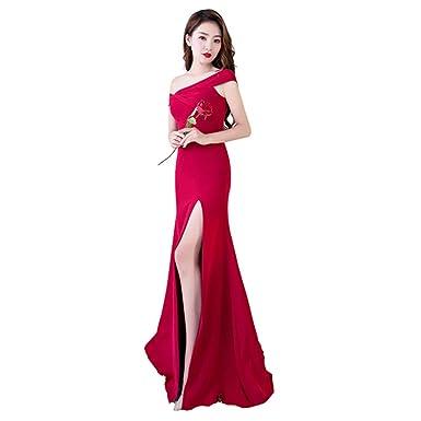 9bb14ff4518d9 パーティードレス 赤 カラードレス 一字肩 マーメイドドレス 結婚式 二次会 ブライダル 花嫁 ドレス