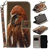 Misteem Case for iPhone X / XS Animal, Cartoon Anime Comic Leather Case Wallet with Bookstyle Magnetic Closure Card Slot Holder Flip Cover Shockproof Slim Creative Pattern Shell Protective Cover for iPhone XS / X [Eagle]