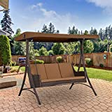 Garden Winds Replacement Canopy Top Cover for the Wilson Fisher Resin Wicker Swing - Standard 350