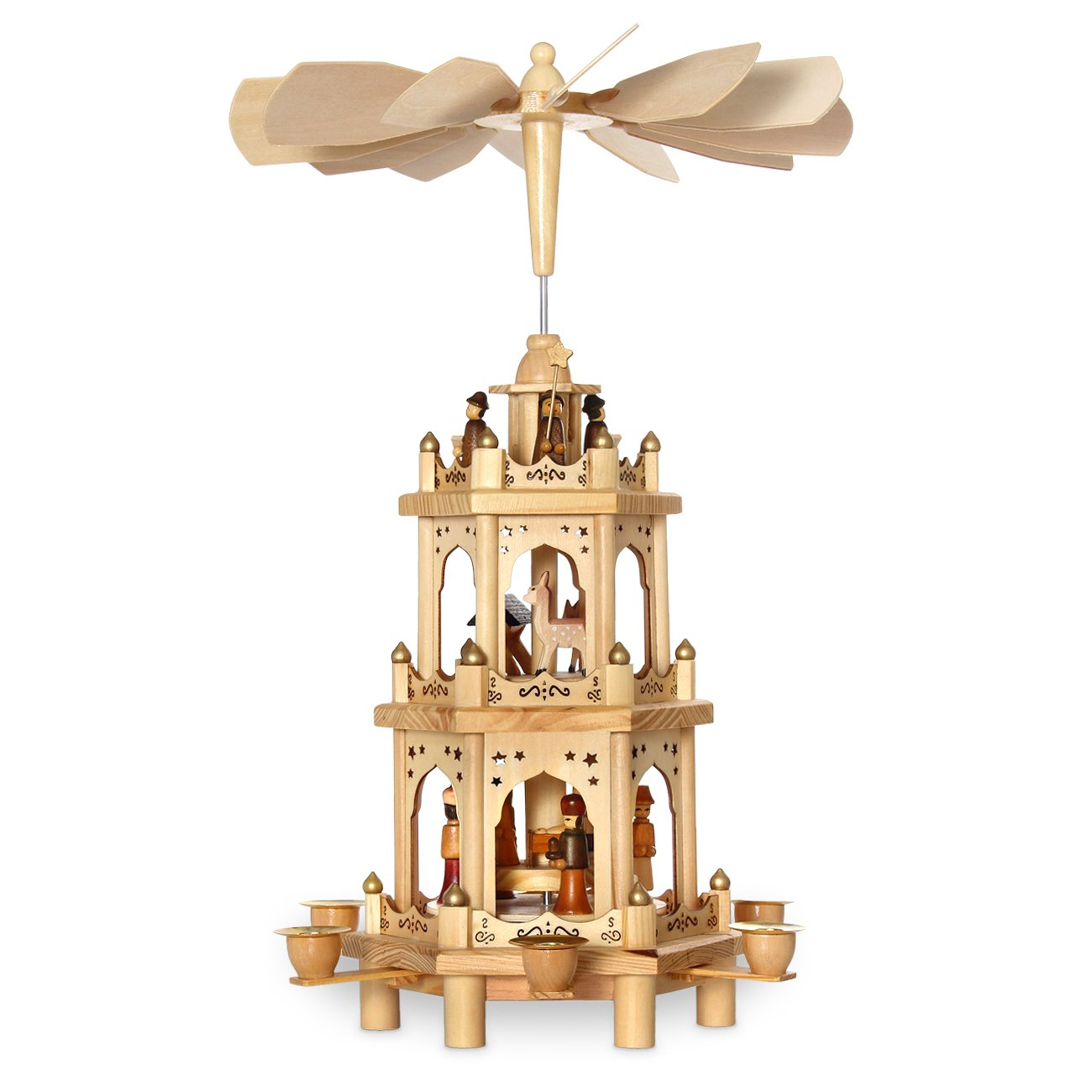 Classic Christmas Pyramid with 3 Stories 48 cm SIKORA Weihnachtswelt