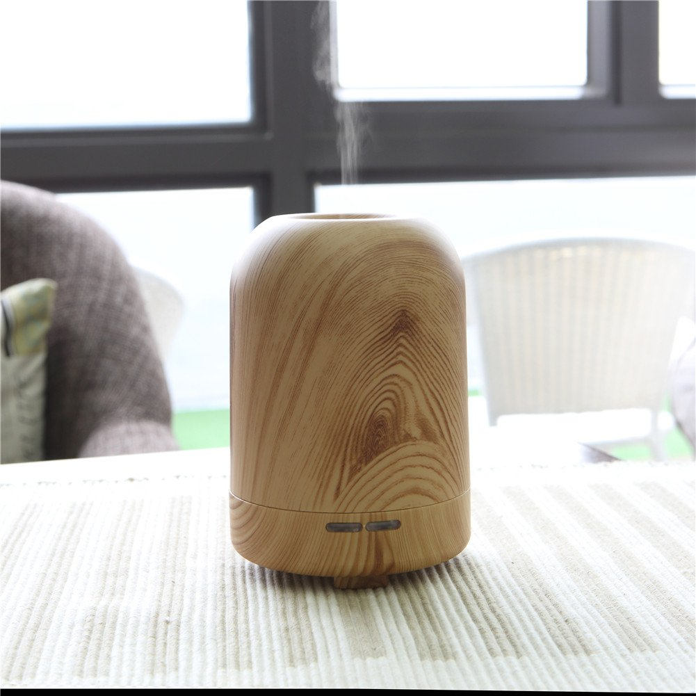 TRADE 100ML Ultrasonic Timer Settings and Waterless Auto Shut-off Protection Air Purification Spray Circle Column Shallow Wood Grain Humidifier,Suitable for Your Home and Office by TRADE® (Image #6)