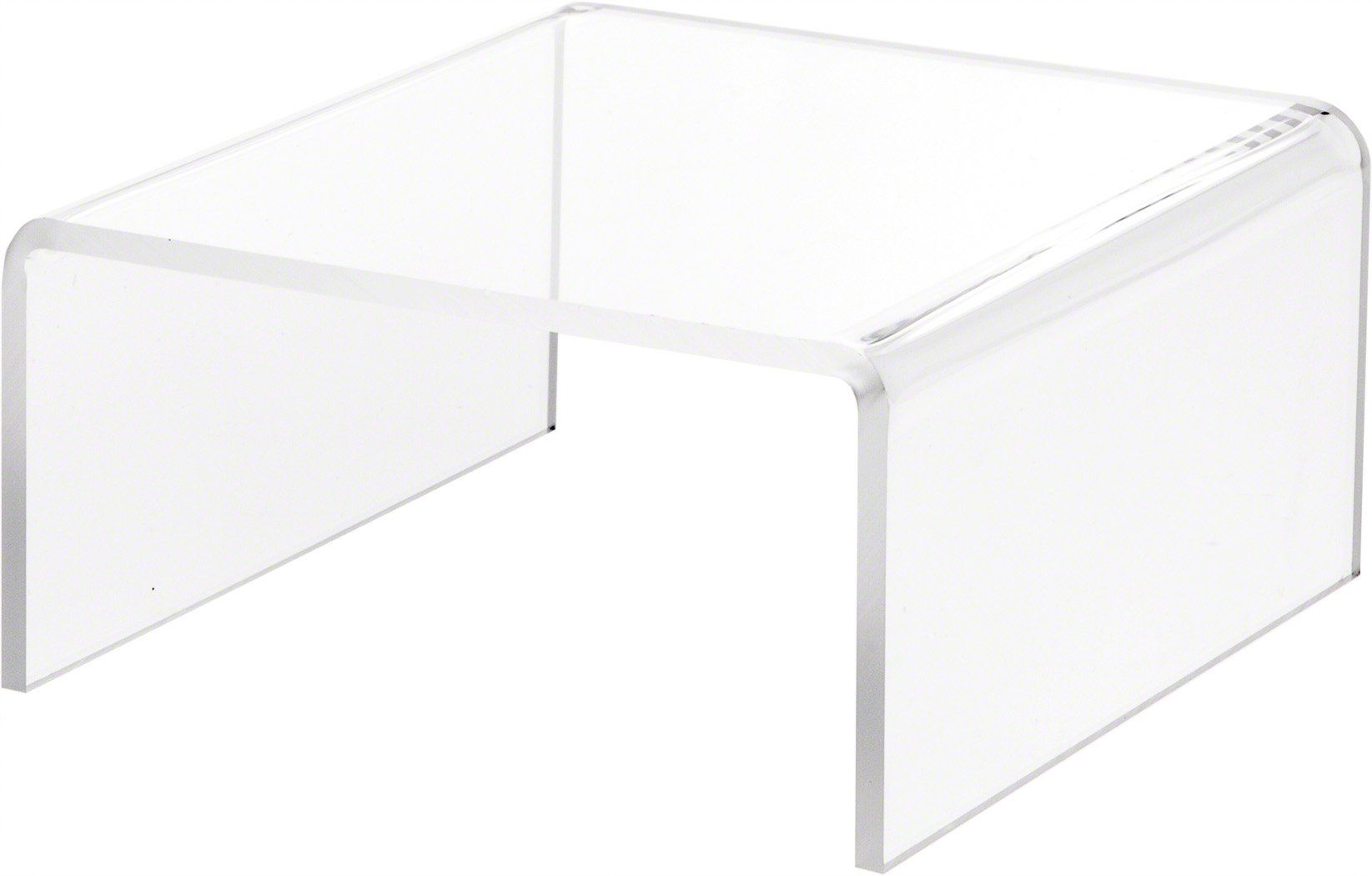 Plymor Brand Clear Acrylic Short Square Riser, 3.5'' H x 7'' W x 7'' D (1/4'' thick)