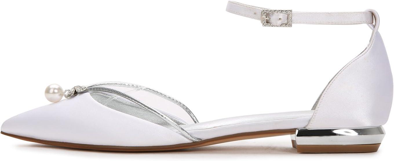 Mnvoa huwelijksschoenen met gesloten punt, platte schoenen Zwart