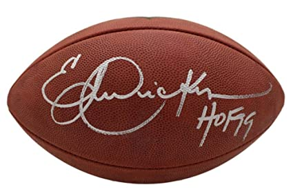 Eric Dickerson Autographed Los Angeles Rams Authentic Football HOF ... 2ae9cb044