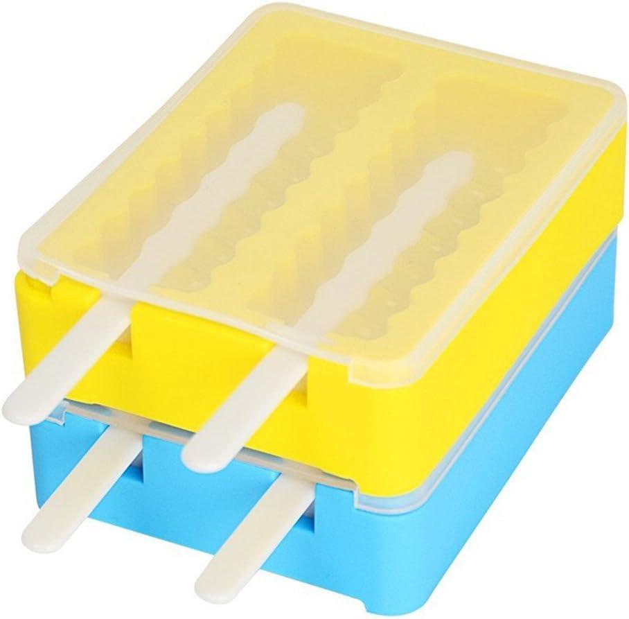 Eis am Stiel Colorful Camo Silikon iNeibo Silikon-Eisformen 6 St/ück
