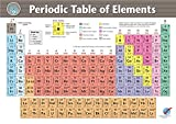#9: Vinyl Periodic Table of Elements (23 in x 33 in) Chemistry Science Classroom Educational Poster Print - 2017 edition