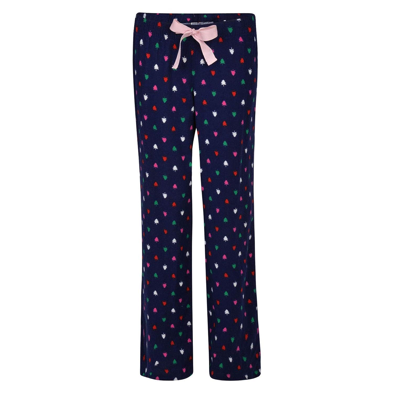 Ex Old Navy Ladies Pyjama Bottoms Christmas Xmas Tree Lounge PJ Pants