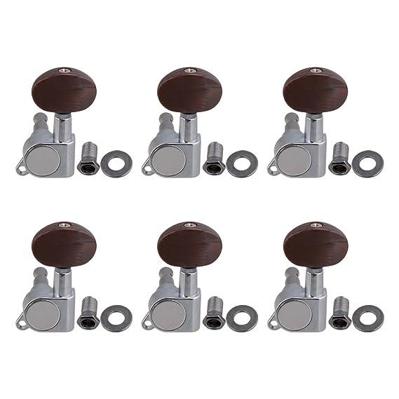 Mxfans E7 - Juego de clavijas de afinación para guitarra (6 L ...