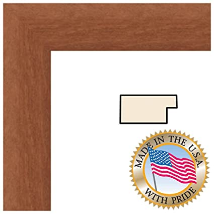11x18 Walnut Stain on Beach Picture Frame - 1.375\'\' wide with ...