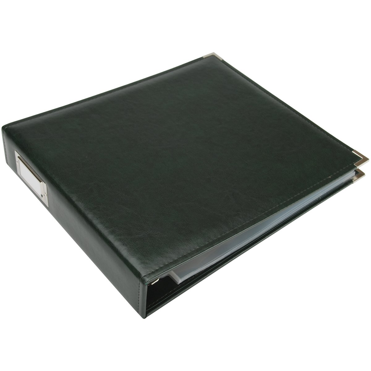 12 x 12-inch Classic Leather 3-Ring Album by We R Memory Keepers | Kiwi, includes 5 page protectors 40345-6
