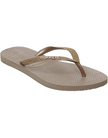 a459b4f6b2b75d Havaianas Slim Glitter Sandals Black