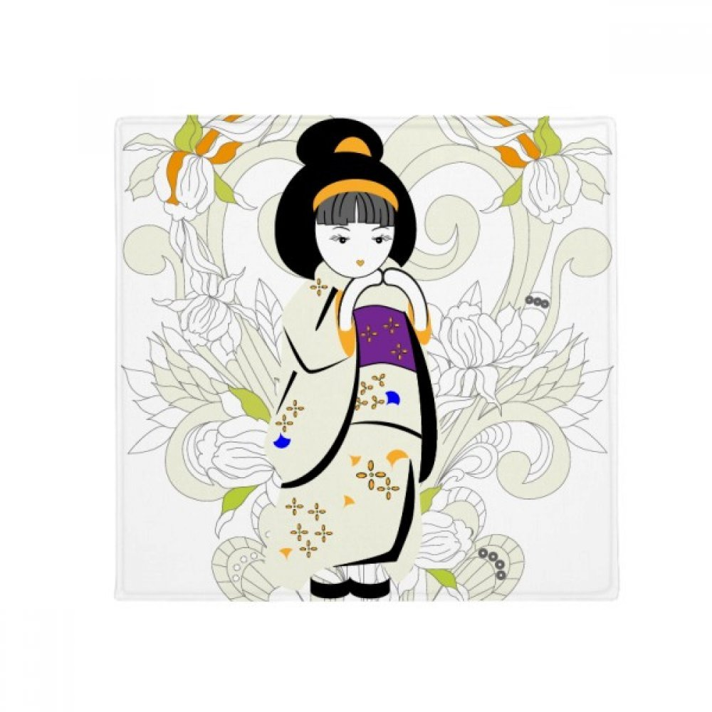 DIYthinker Japan Kimono Girl Pattern Anti-Slip Floor Pet Mat Square Home Kitchen Door 80Cm Gift