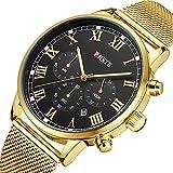 PHSTE Mens Chronograph Watch Analog Quartz Date...