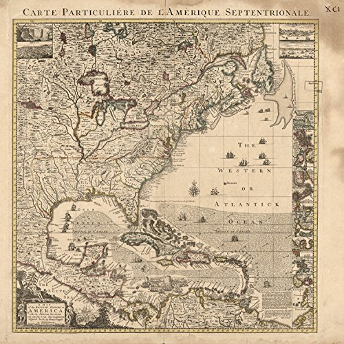 Map Poster - A map of the British empire in America with the French Spanish and the Dutch settlements adjacent thereto / 24 X 24 (British Empire Map)