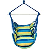 Highwild Hanging Rope Hammock Chair Swing Seat for Any Indoor or Outdoor Spaces - 500 lbs Weight Capacity - 2 Seat…