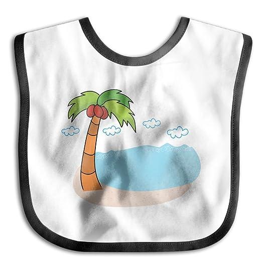 5fa59b435 Amazon.com  KIDDDDS Baby s Palm Tree And Beach Vacation Saliva Towel ...