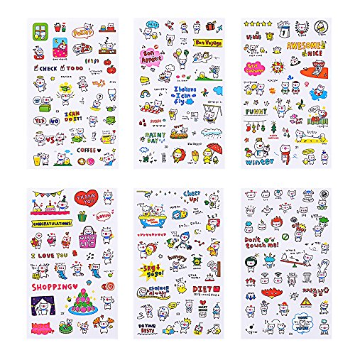 Christmas Sticker Collection Set of 1344+ PCS-Variety Sticker Pack-7 PVC Sticker Sheets Per Pack-Decorative Sticker Collection for Scrapbooking, Bullet Journals,Calendars, Arts, Kids DIY Craft, Album. by sinceroduct (Image #1)