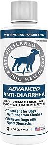 Vets Preferred Advanced Anti-Diarrhea Liquid | Veterinarian-Grade Anti Diarrhea Dogs Solution | Fast Relief for Dog Diarrhea, Upset Stomach, Cramping, Discomfort, Dog Gas | Kaolin & Pectin (8 oz.)
