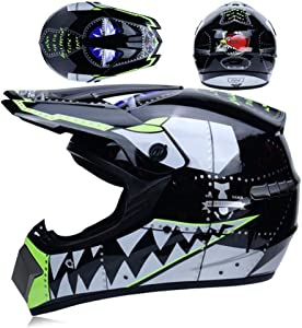 DQ-Walker Adult Off-Road Shark Helmet,Street Motorcycle Helmet,Modular Motorcycle Bike Helmet Full Face Desert Car Helmet DOT Certification
