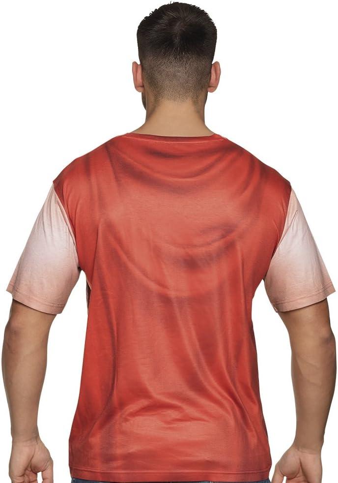 84380 M Rosso//Grigio Boland- Maglia Fotorealistica Legionario Romano per Adulti