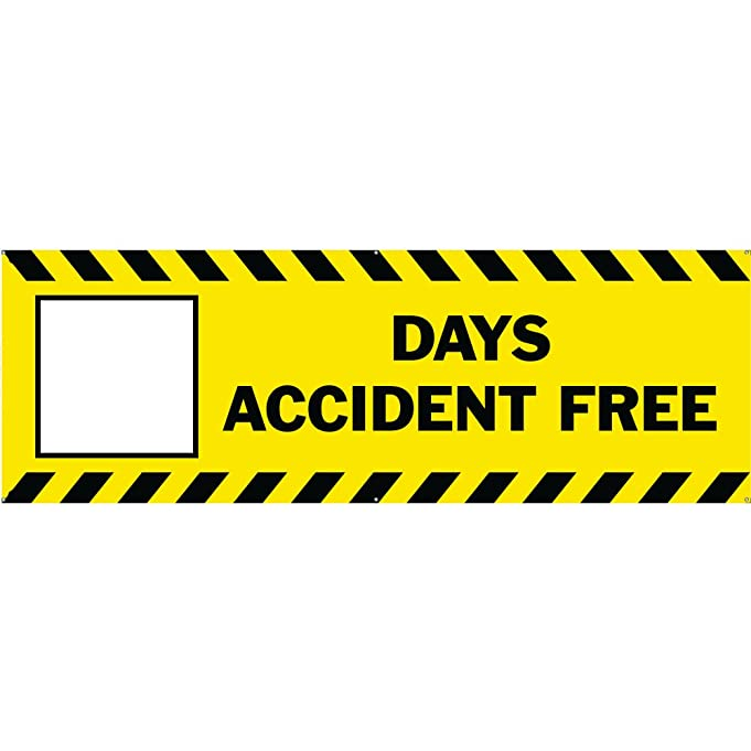 Amazon.com : BLANK DAYS ACCIDENT FREE Banner Sign 3ftX8ft Yellow w ...