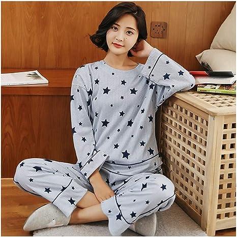 HAOLIEQUAN Primavera Otoño Mujeres 100% Algodón Pijamas Mujeres ...