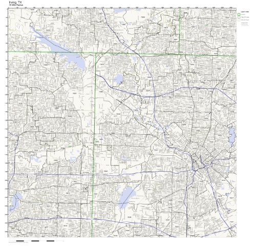 Irving, TX ZIP Code Map Laminated (City Of Irving Texas)