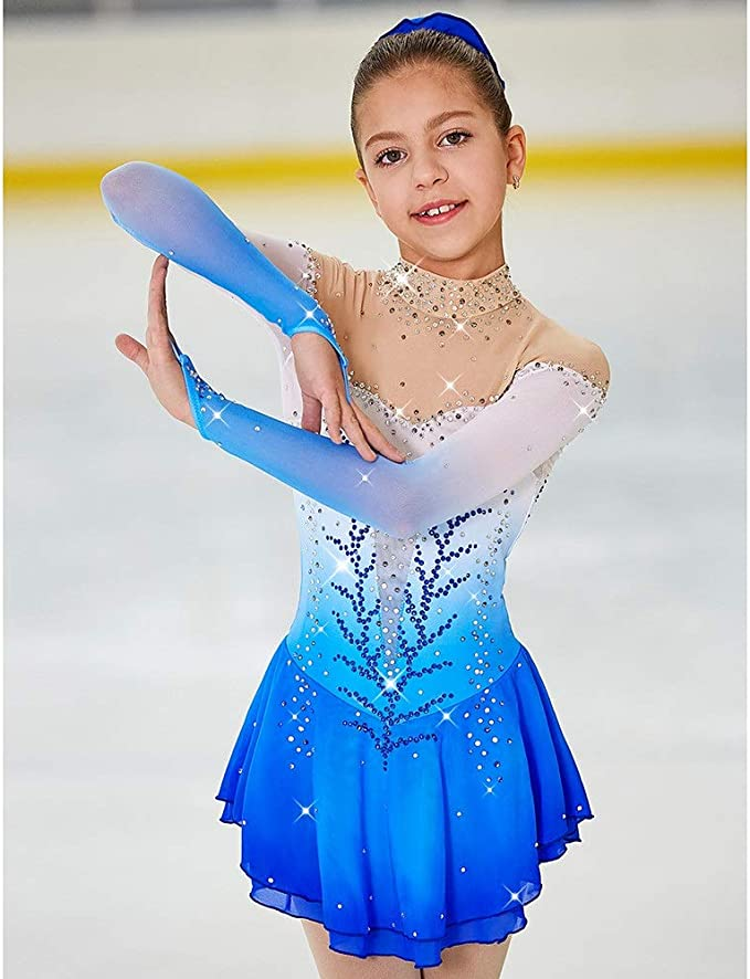 Kim Competition Ice Skating Dress Child Size 8