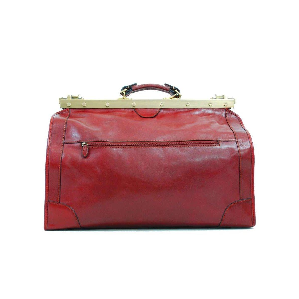 Katana - Sac Doctor Bag en Cuir de vachette - Rouge DxaS5K
