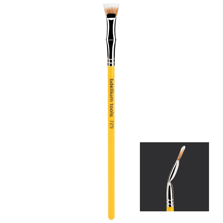Bdellium Tools Professional Makeup Brush Studio Line, Duet Fiber Bent Mascara Fan 729, 1 Count
