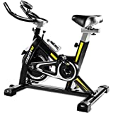 EXERCISE Exercise Bikes Home Fitness Equipment Mute Indoor Spinning Bike Home Fitness Workout Adjustable Spinning Bike (Color : Black, Size : 100x50x120cm)