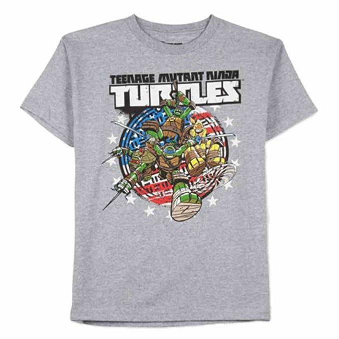 Teenage Mutant Ninja Turtles niños gris camiseta de las ...