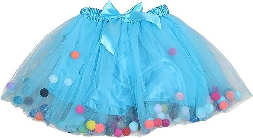 JOYOOY Faldas tutú para niñas con Cintura elástica, Falda de Tul ...