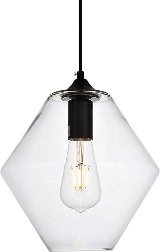 Elegant Lighting Placido Collection 1 Light Pendant Lamp