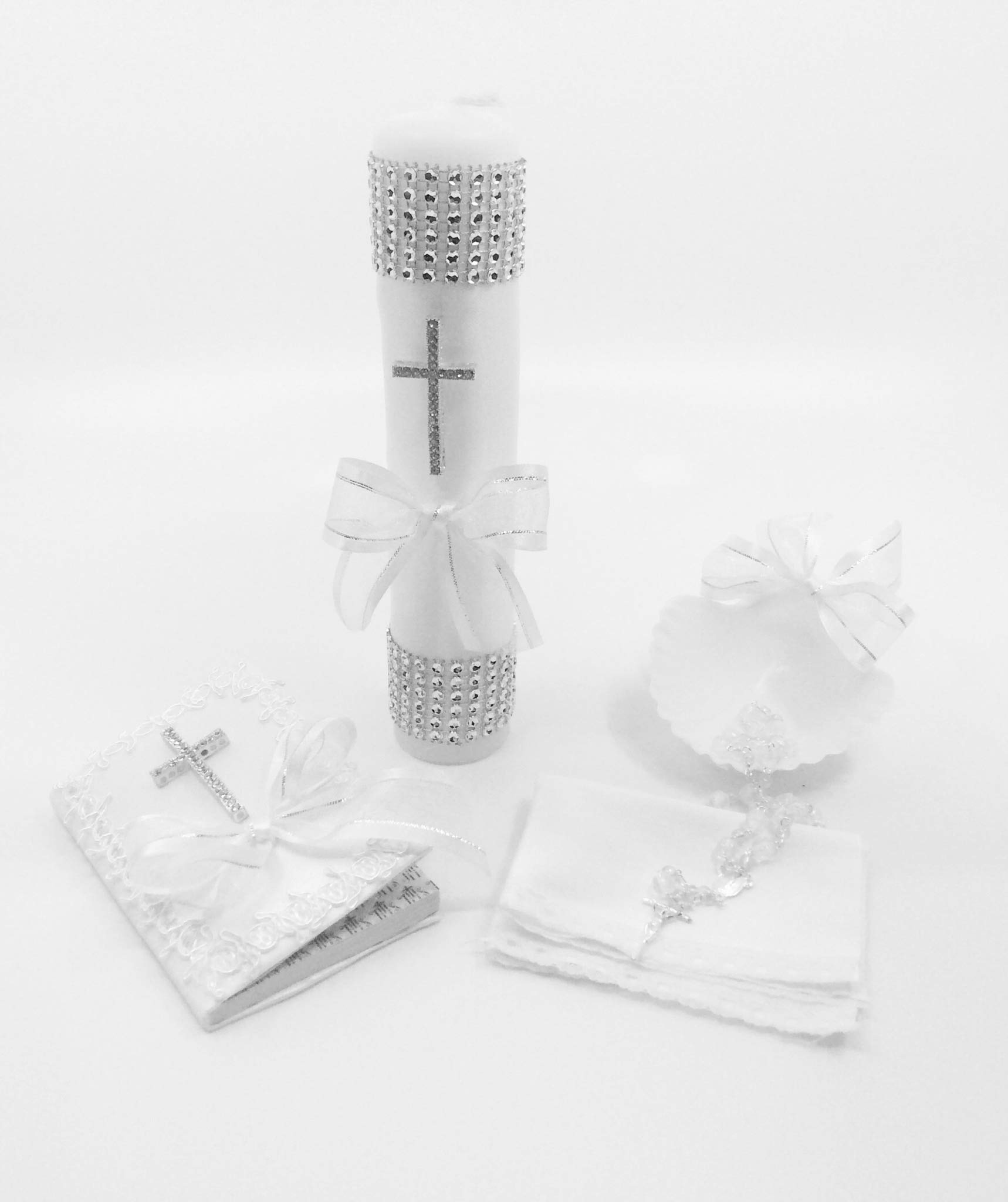 Baptism Candle set with a cross