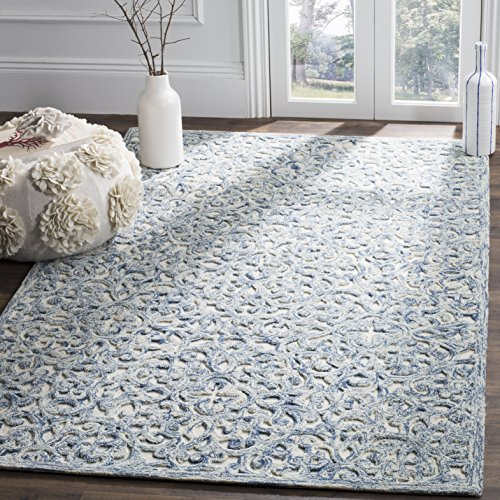 Safavieh Trace Collection Handmade Area Rug, 8 x 10 , Blue Ivory