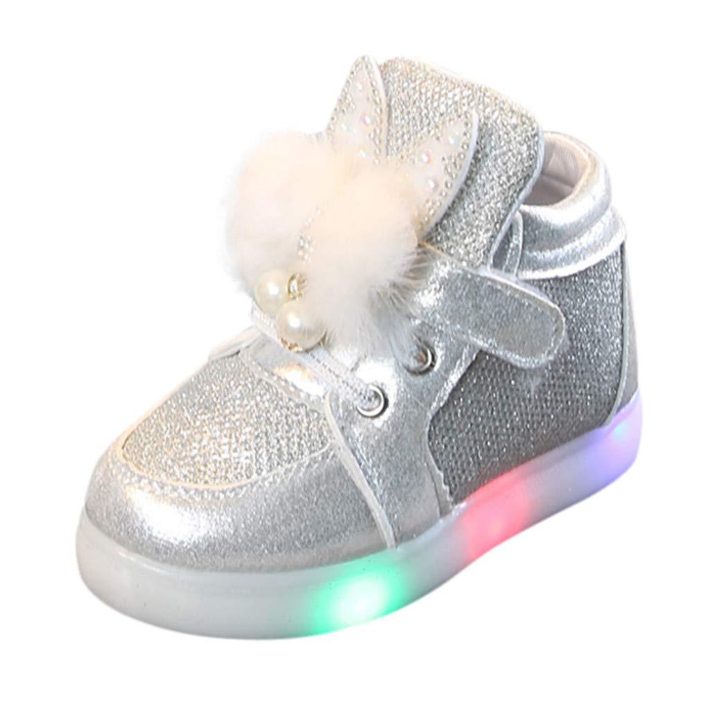 Toddler Sneakers Casual Running Shoes Infant Cartoon Rabbit LED Luminous Sport Shoes Sneakers Memela