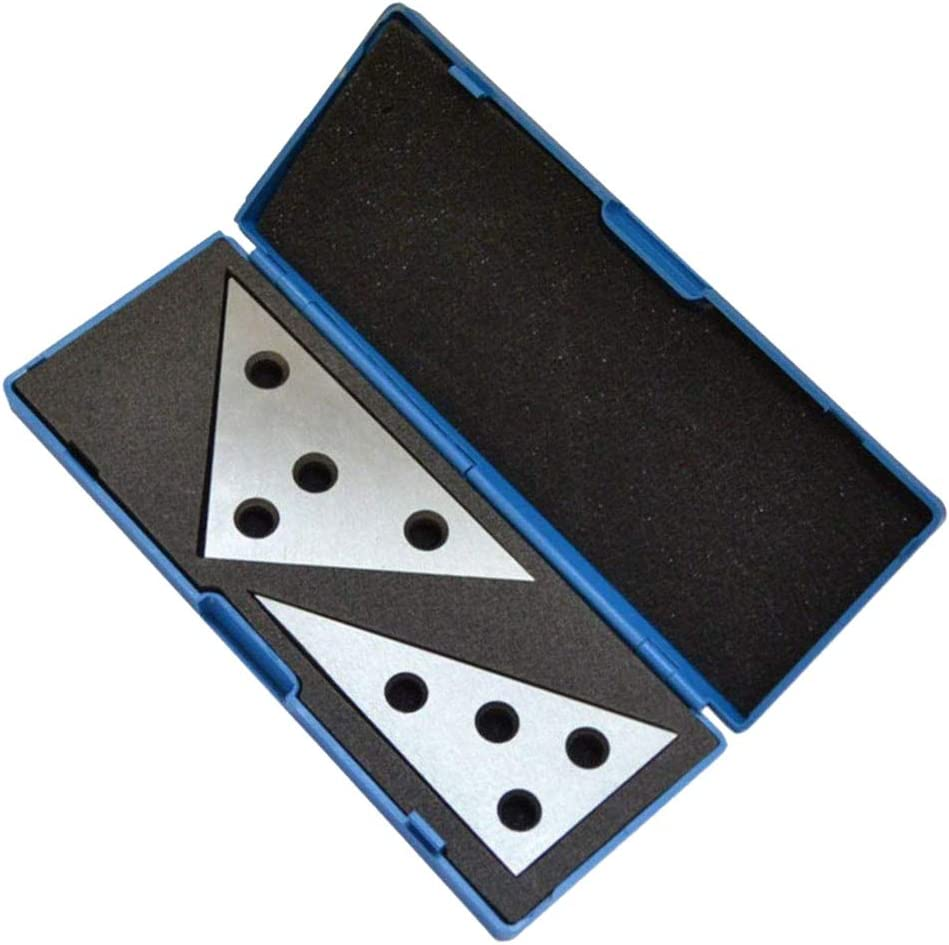 Angle Block Plate Block 2 pc Set 30-60-90 and 45-45-90 Machinist Tool