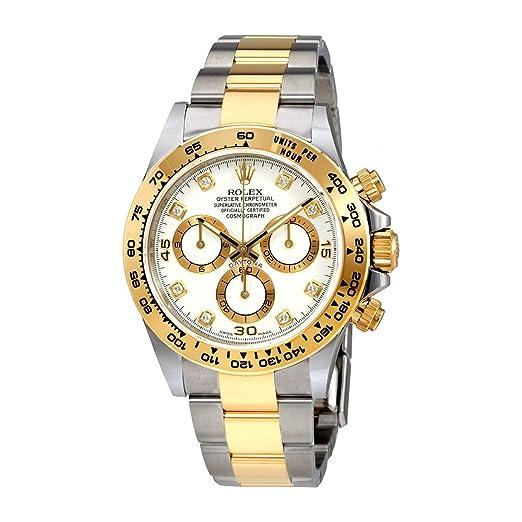 Rolex Oyster Perpetual Cosmograph Daytona Blanco Diamante Dial Damas Reloj 116503 WDO: Amazon.es: Relojes