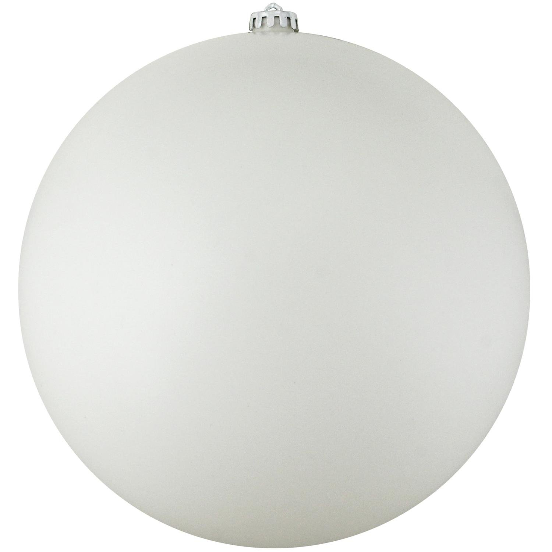 Northlight Shatterproof Matte Winter White Christmas Ball Ornament, 10''