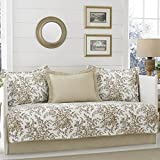 Laura Ashley Bedford 5-Piece Daybed Cover Set Mocha