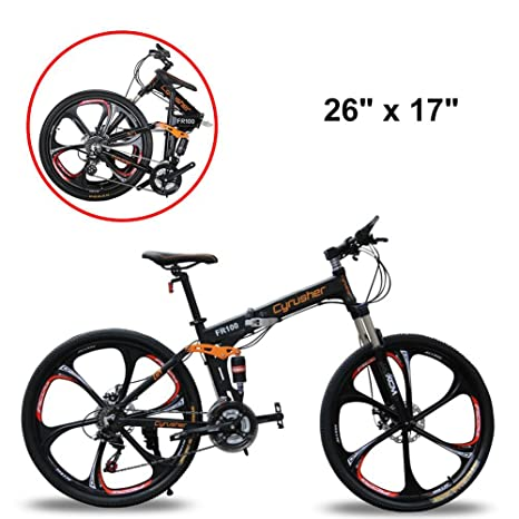 Full Suspension Mountain Bikes Bicycle Warehouse >> Extrbici Mountain Bike Bicycle Folding 17x26 Inch Wheel 24 Speeds Full Suspension Fr100 Bycicle Mechanical Disc Brakes Shimano Aluminum Frame M310