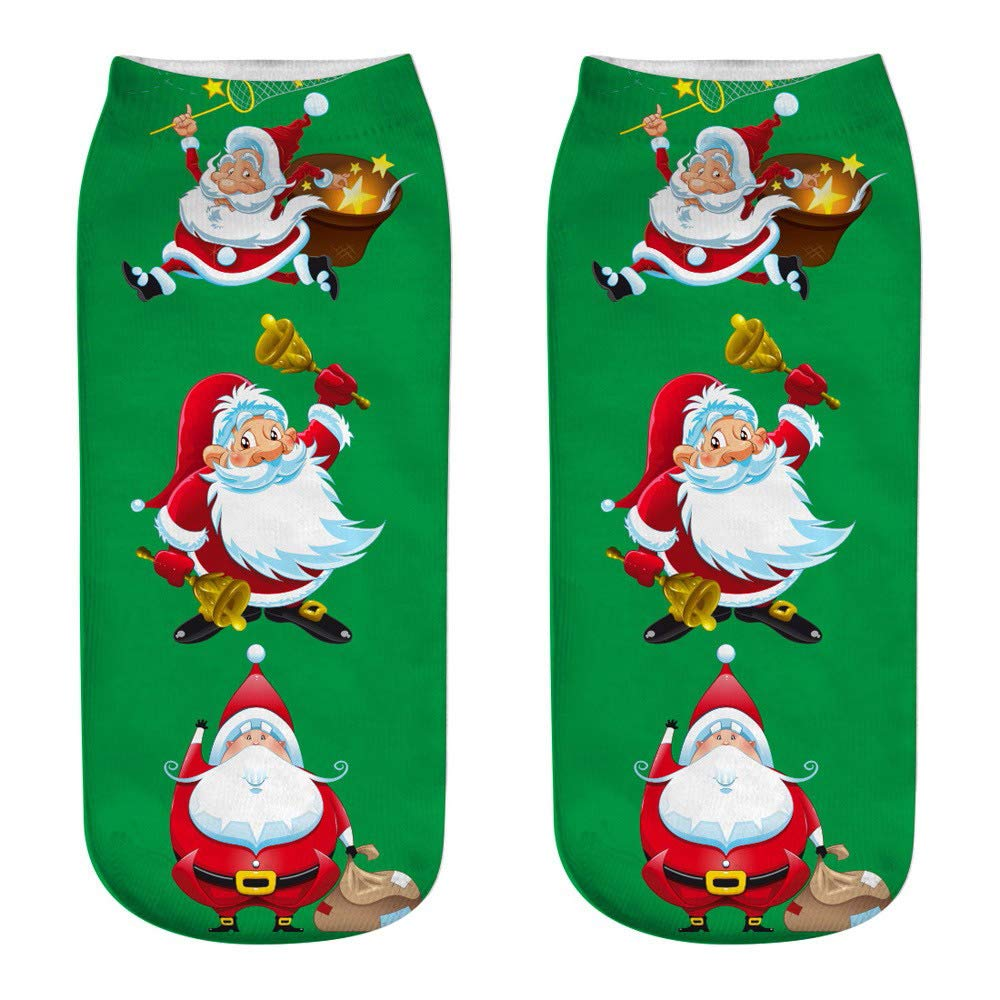 Sanyalei Cute Christmas Socks, Sleep Socks Winter Ankle Socks Women Girl 15D Warm Crew Socks (A,198cm(LW))