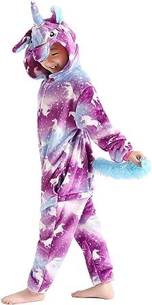 Unisex Kids Animal One-piece Pajama Cosplay Costume Christmas Sleepwear Gift