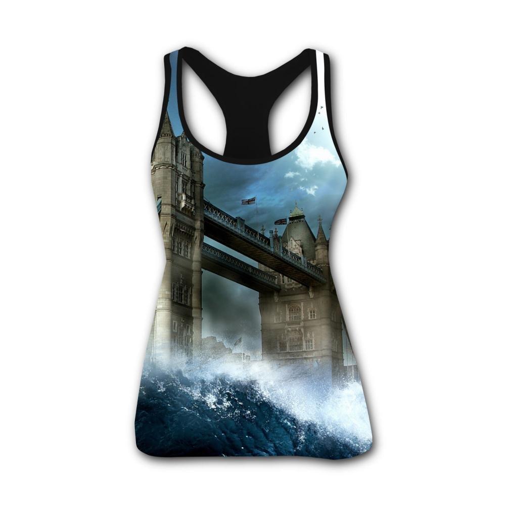 Amazon.com: Knwazz Womens Tank Tops London Bridge 3D Printed ...