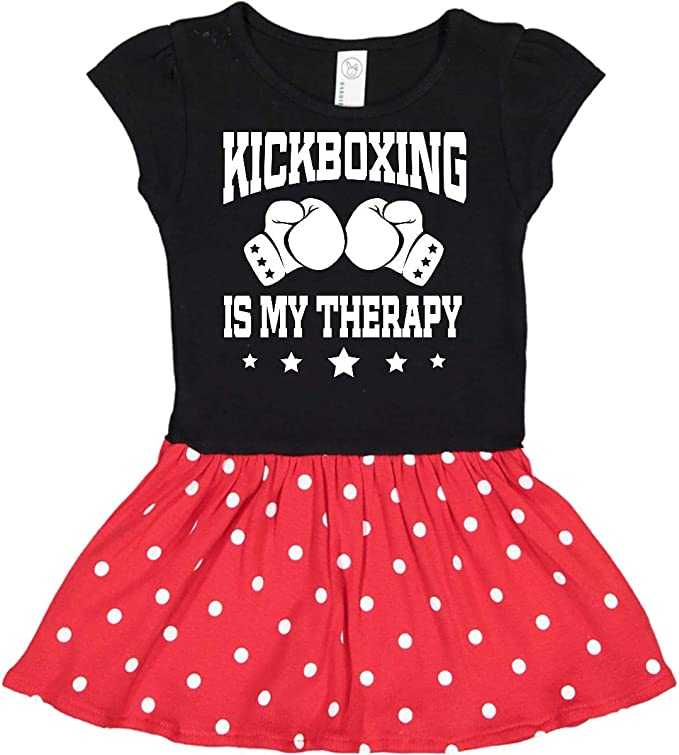inktastic Kickboxing is My Therapy Gift Long Sleeve Creeper